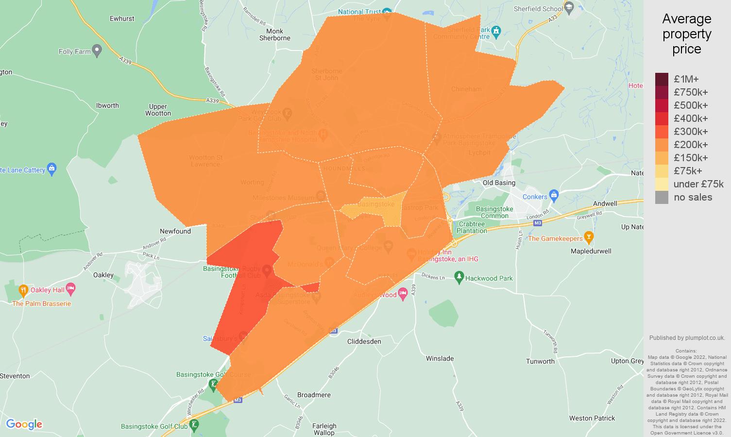 Basingstoke house prices map