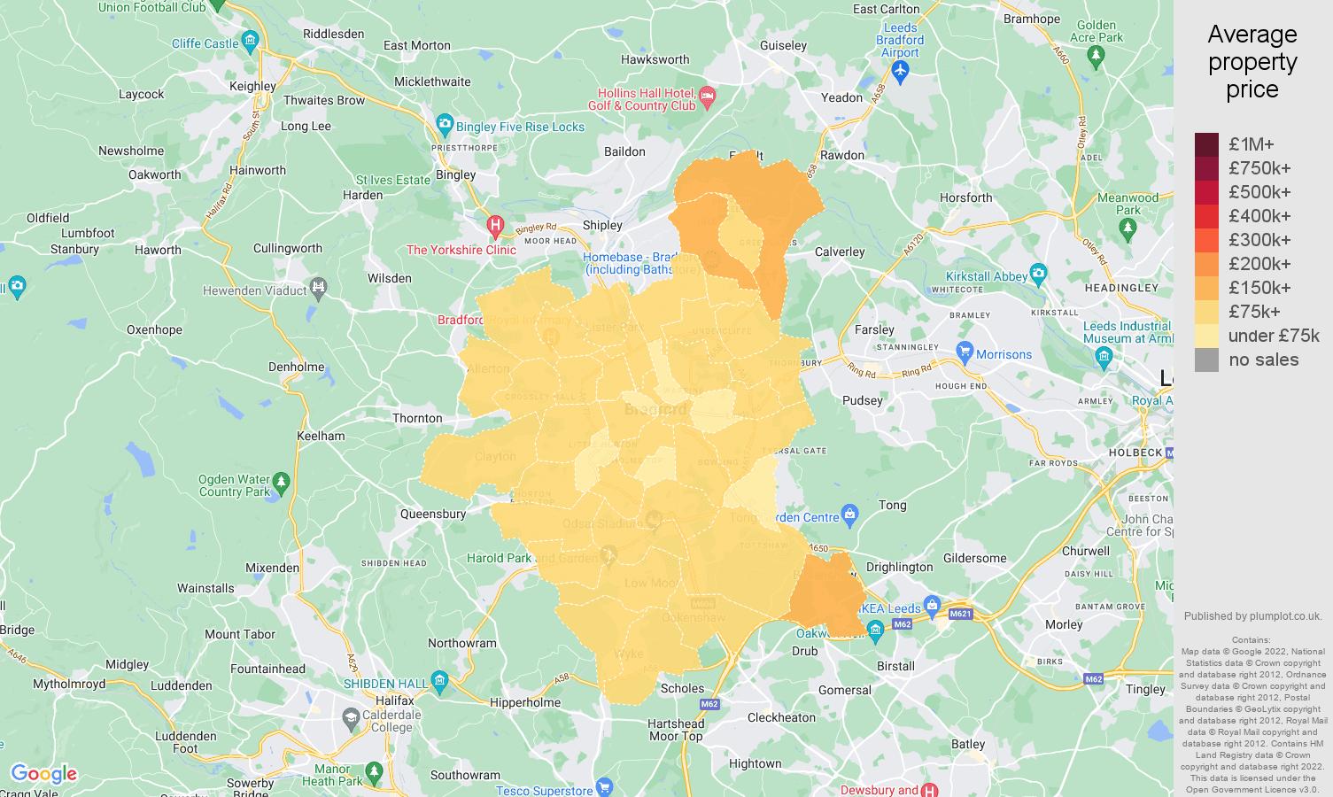 Bradford house prices map