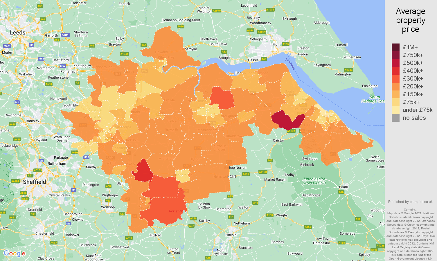 Doncaster house prices map