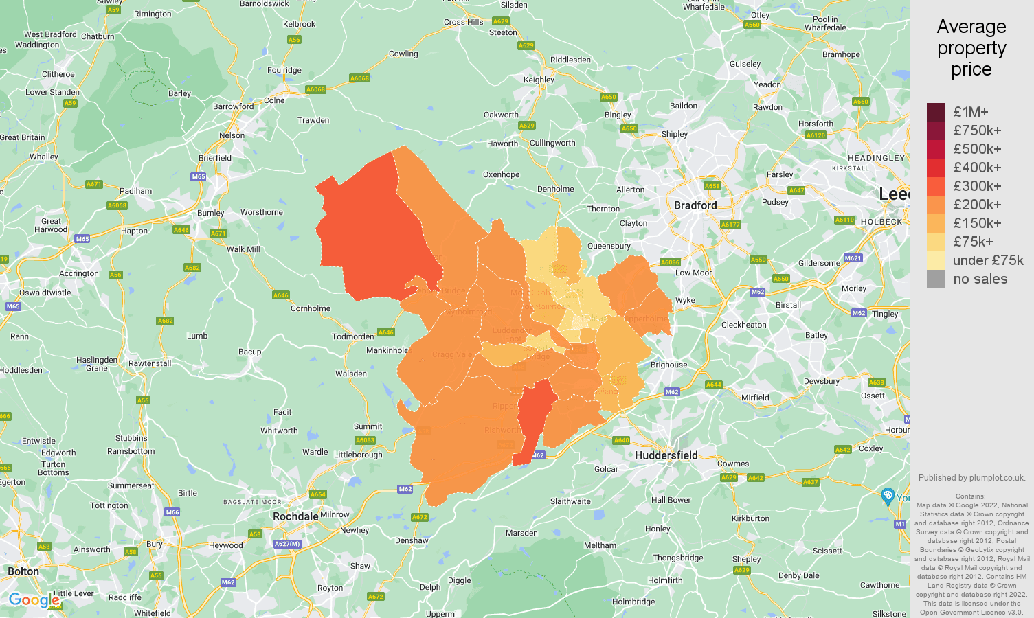 Halifax house prices map
