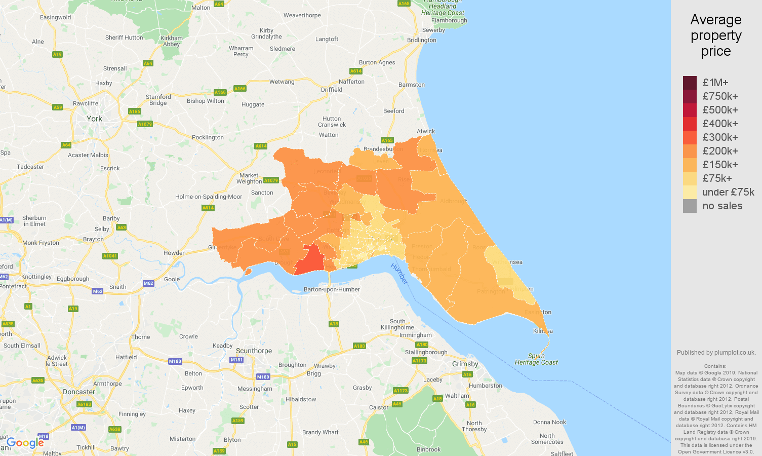 Hull house prices map
