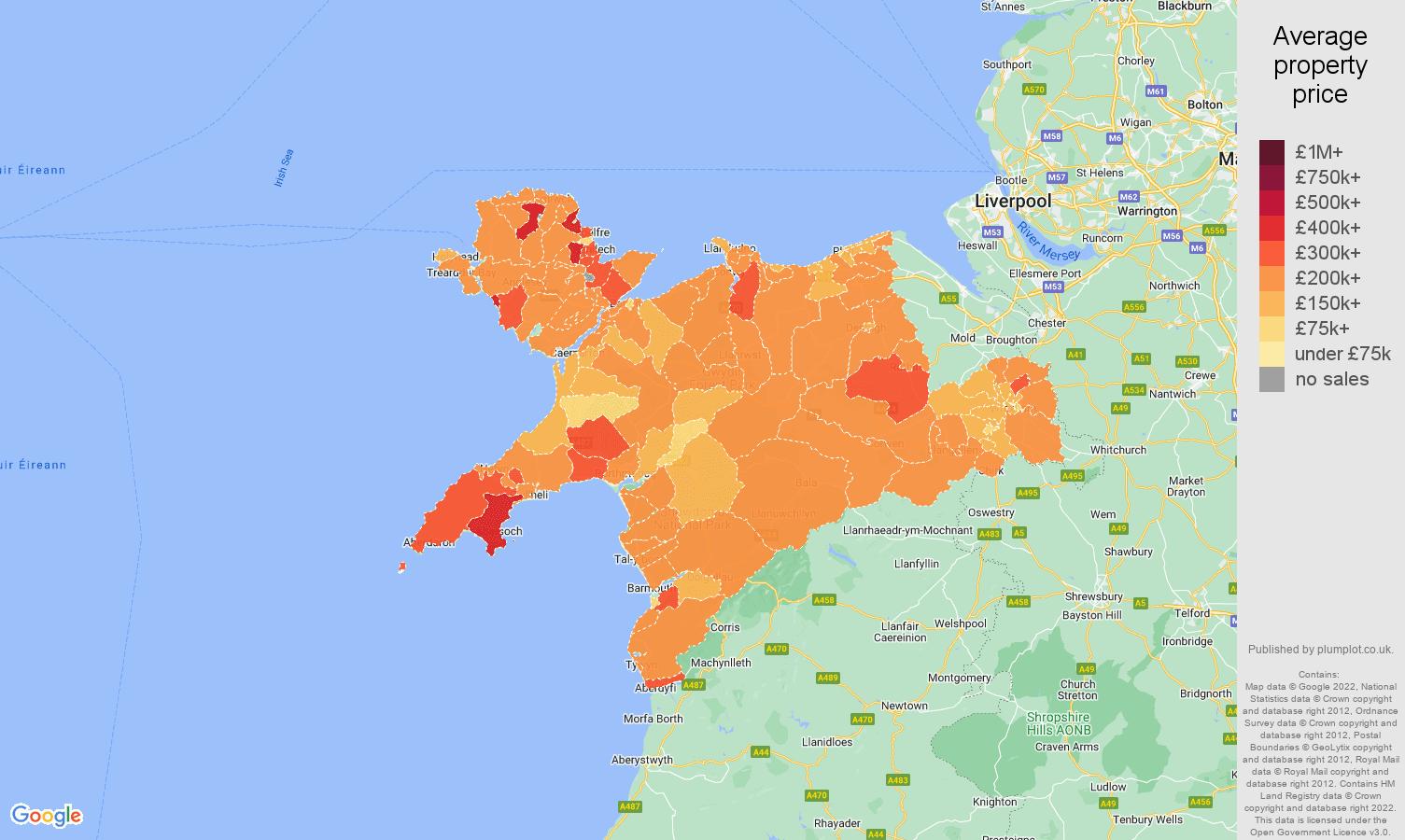 Llandudno house prices map