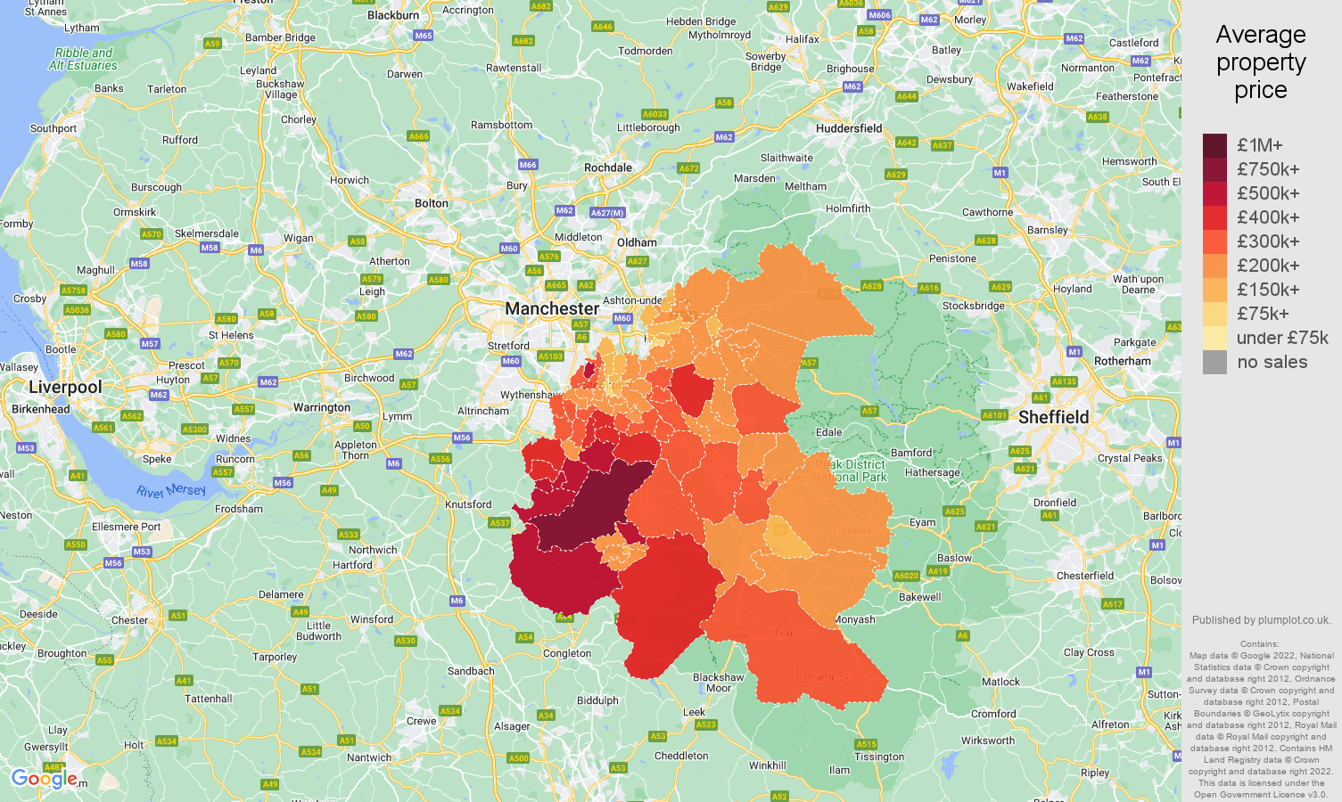Stockport house prices map